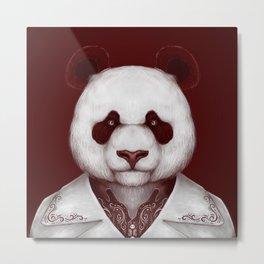 Red rum Panda Metal Print