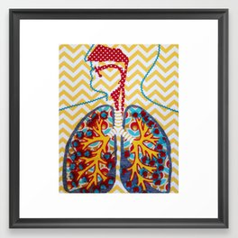 Happy and Nicotine Free Framed Art Print