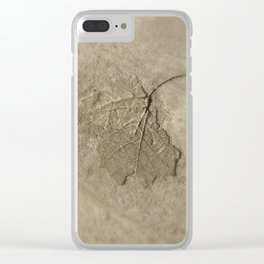 Stamped Forever in Time Clear iPhone Case