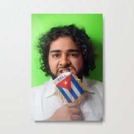 Karla Croqueta Cubana Metal Print