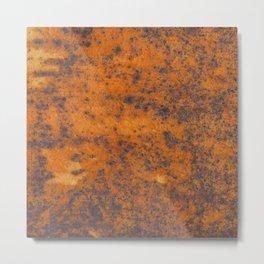 Vintage metall rust texture - Orange / red pattern Metal Print