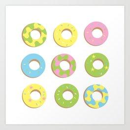 digital donuts Art Print