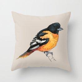 Oriole Bird Throw Pillow