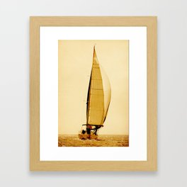 sailors and sail Framed Art Print