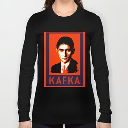 Authors of Note - Franz Kafka Long Sleeve T-shirt