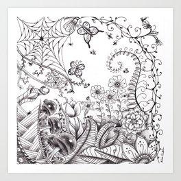 Garden Doodle 2 Art Print