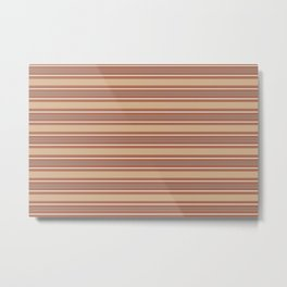 Cavern Clay SW 7701 and Accent Colors Thick and Thin Horizontal Lines Bold Stripes 2 Metal Print