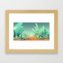 The Crystal Desert Framed Art Print