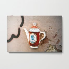 Walled Tea Metal Print