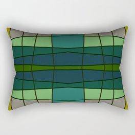 Green Pattern Turtle Rectangular Pillow