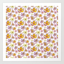 Cute Bright Floral Print Art Print