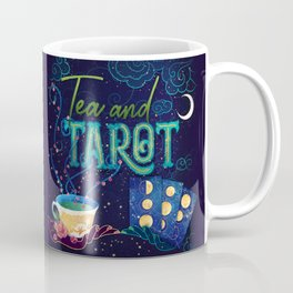 Kelly-Ann Maddox Collection :: Tea and Tarot (Illustrated) Coffee Mug