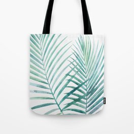 Twin Palm Fronds - Teal Tote Bag