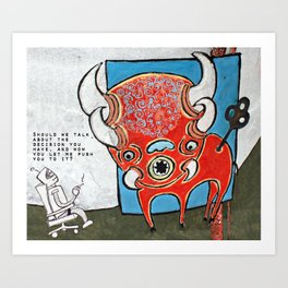 """...pushed you..."" Art Print"