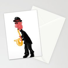 A man playing saxophone Stationery Cards