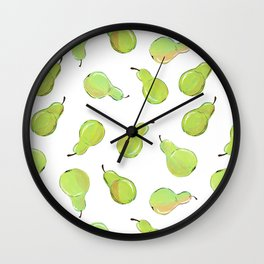 A Peck of Pears Wall Clock