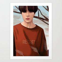 BTS JIMIN LOVE YOURSELF FANART Art Print