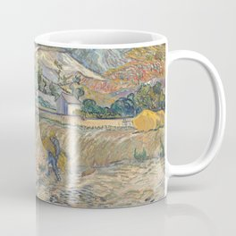 Enclosed Field with Peasant by Vincent van Gogh, 1889 Coffee Mug