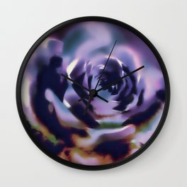 Illusion of a rose in moonlight Wall Clock