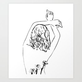Oblivious #drawing #illustration Art Print