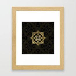 Golden Star of Lakshmi - Ashthalakshmi Framed Art Print