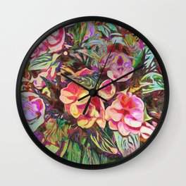 Beautiful Tropical Impatiens Wall Clock