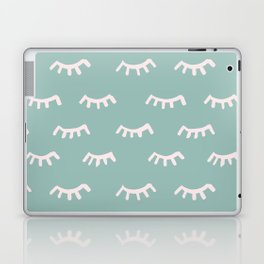 Mint Sleeping Eyes Of Wisdom - Pattern - Mix & Match With Simplicity Of Life Laptop & iPad Skin