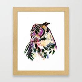 Owl Totem Print Framed Art Print