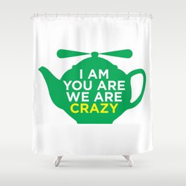 Flying Teapot Shower Curtain