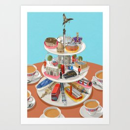 a very British past time Art Print