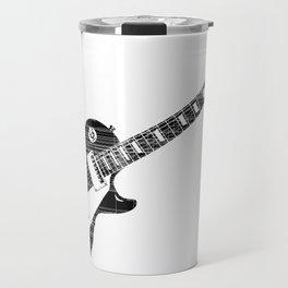 Black Guitar Travel Mug