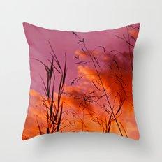 Sundown Silhouettes Throw Pillow