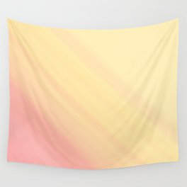 Pastel Ombre Millennial Pink Yellow Diagonal Stripes   Peach, apricot gradient pattern Wall Tapestry