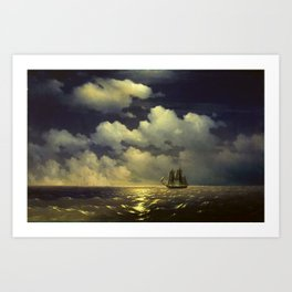 The Brig Mercury, Ivan Aivazovsky Art Print