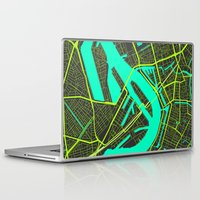 cities Laptop & iPad Skins featuring 2nd Biggest Cities Are Cities Too - Rotterdam by Bakus