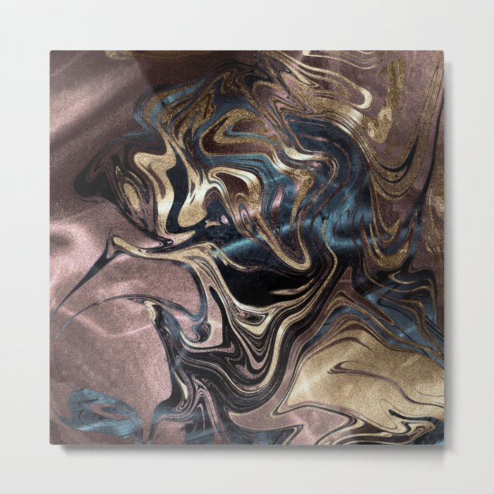 Deep Liquid Gold Metal Print