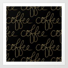Coffee Dots Art Print