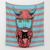 viking Wall Tapestries featuring Viking by Thekrls