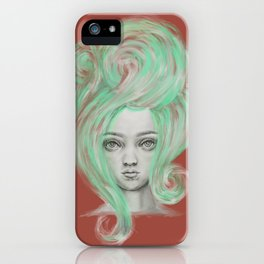 Green wig iPhone Case