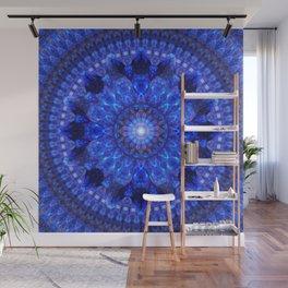 Azure Shield Mandala Wall Mural