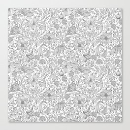 Bells Flower - BUTTERFLIES - CAMPANULA GRAY Canvas Print