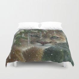 Cougar / Mountain Lion - Frozen Duvet Cover
