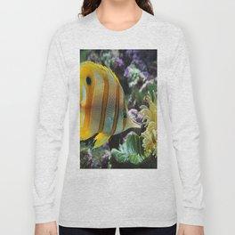 Yellow Longnose Butterfly Fish Long Sleeve T-shirt
