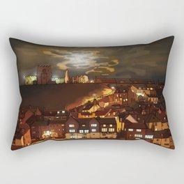 Whitby By Moonlight  Rectangular Pillow