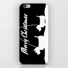 Westie White Christmas iPhone Skin