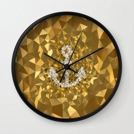 POLYNOID Anchor / Gold Edition Wall Clock