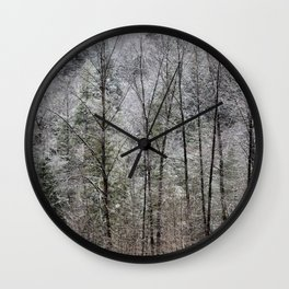 Snow Dusted Trees, No. 1 Wall Clock