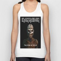 iron maiden Tank Tops featuring Iron Maiden-Book Of Souls by darma1982