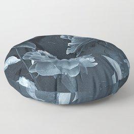 Blue Peonies Floor Pillow
