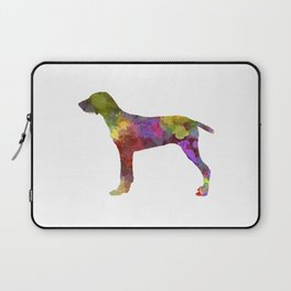 Wirehaired Slovakian Pointer in watercolor Laptop Sleeve